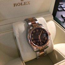 Rolex Rose gold Automatic Brown Roman numerals 31mm new Lady-Datejust