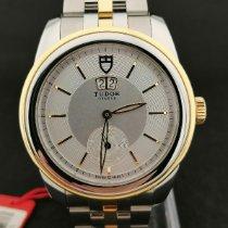 Tudor Glamour Double Date Acero y oro 42mm Plata