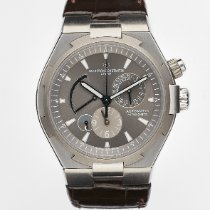 Vacheron Constantin Overseas Dual Time pre-owned 42mm Grey Date GMT Rubber