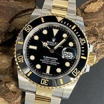 Rolex Submariner Date Золото/Cталь 40mm Черный