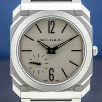 Bulgari pre-owned Automatic 40mm Grey Sapphire crystal 10 ATM