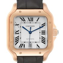 Cartier Santos 100 Rose gold 39.8mm Silver Roman numerals United States of America, Georgia, Atlanta