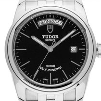 Tudor Glamour Date-Day Steel 39mm Black