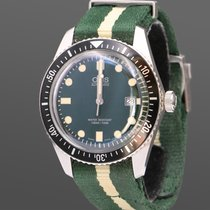 Oris Divers Sixty Five pre-owned 42mm Green Date Textile