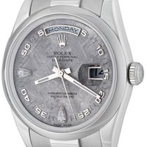 Rolex Platinum Automatic No numerals 36mm pre-owned Day-Date 36
