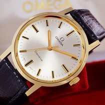 Omega Yellow gold Manual winding White No numerals 34,5mm new Genève