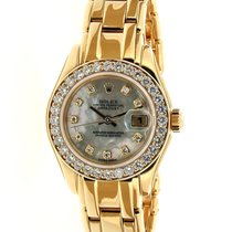 Rolex Lady-Datejust Pearlmaster Yellow gold 29mm Mother of pearl No numerals United Kingdom, Hants