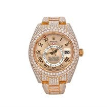 Rolex Sky-Dweller Rose gold 42mm Yellow Roman numerals