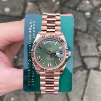 Rolex Day-Date 40 Rose gold 40mm Green Roman numerals United Kingdom, Colchester