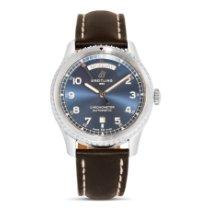 Breitling Navitimer 8 occasion 41mm Bleu Date Cuir