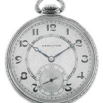 Hamilton Часы подержанные 1920 Белое золото Механические Только часы