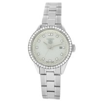 TAG Heuer Carrera Lady pre-owned 28mm Mother of pearl Date Steel