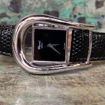 Chopard Silver Manual winding Black No numerals 29mm pre-owned
