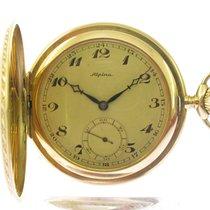 Alpina Часы подержанные 1937 Желтое золото Механические Часы с оригинальными документами и коробкой