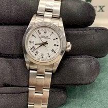 Rolex Oyster Perpetual 26 Ocel Bílá