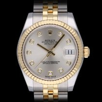 Rolex Lady-Datejust Zlato/Zeljezo 31mm Srebro