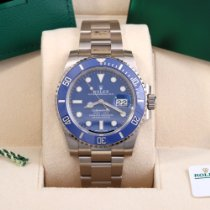 Rolex White gold Automatic Blue No numerals 40mm new Submariner Date