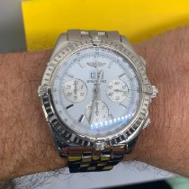 Breitling Crosswind Special pre-owned 44mm White Panorama date Date White gold