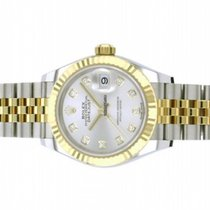 Rolex Lady-Datejust Or/Acier 28mm Vert Sans chiffres