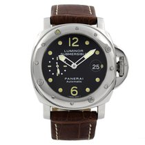 Panerai Luminor Submersible Stål 44mm Svart Arabisk
