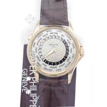 Patek Philippe World Time occasion 39.5mm Argent GMT Cuir de crocodile