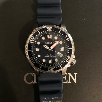 Citizen pre-owned Quartz 44mm Blue Mineral Glass 20 ATM