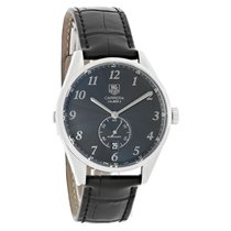 TAG Heuer Carrera Calibre 6 pre-owned 39mm Black Date Leather