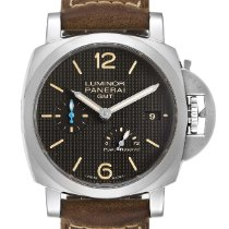 Panerai Luminor 1950 3 Days GMT Power Reserve Automatic Сталь 42mm Черный Aрабские
