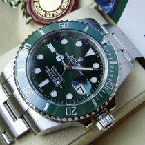 Rolex Submariner Date gebraucht 40mm Grün Datum Stahl