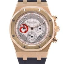 Audemars Piguet Or rose Remontage automatique Argent Arabes 39mm Royal Oak Chronograph