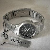 Seiko 5 Steel 39mm Black Arabic numerals