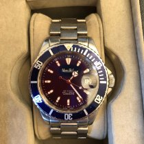 Marcello C. Steel Automatic Blue No numerals 40mm pre-owned Nettuno 3