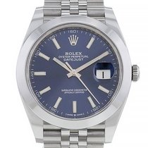 Rolex Datejust Acier 41mm Bleu Arabes France, Paris