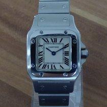 Cartier Santos Galbée Stahl 23mm Weiß Römisch Deutschland, Niederbayern