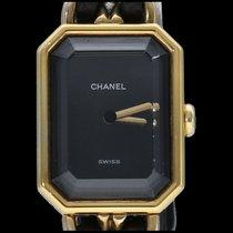 Chanel Acier Quartz Noir Sans chiffres 20mm occasion Première