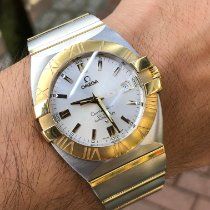 Omega Constellation Double Eagle Gold/Steel 39mm Silver Roman numerals United Kingdom, West Sussex