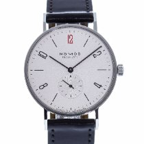 NOMOS Tangente 38 pre-owned 38mm White Leather