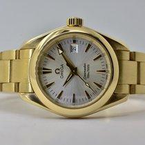 Omega Yellow gold Quartz Silver No numerals 29,2mm pre-owned Seamaster Aqua Terra