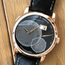 A. Lange & Söhne Rose gold Manual winding Black Roman numerals 42mm pre-owned Grand Lange 1