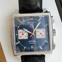 TAG Heuer Monaco Calibre 12 Steel 38mm Blue No numerals