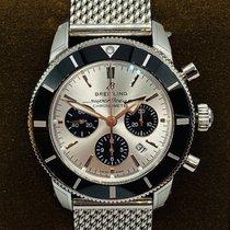 Breitling Superocean Héritage II Chronographe Acier 44mm Argent