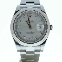Rolex Silver 41mm pre-owned Datejust II