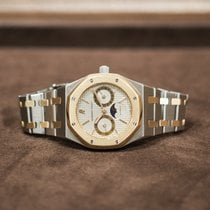 Audemars Piguet Royal Oak Day-Date Gold/Steel 36mm Silver No numerals