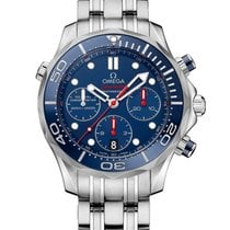 Omega Seamaster Diver 300 M Steel 41.5mm Blue No numerals United States of America, New York, New York