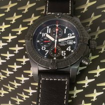 Breitling Super Avenger pre-owned Black Rubber