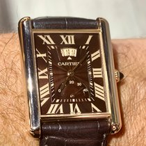 Cartier Tank Louis Cartier Rose gold 39mm Brown Roman numerals United States of America, Florida, Boca Raton