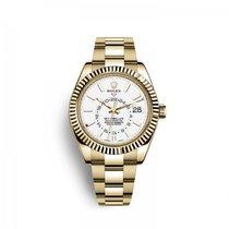 Rolex Sky-Dweller Or jaune 42mm Blanc Arabes