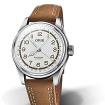 Oris Big Crown Pointer Date Acier 40mm Blanc Arabes