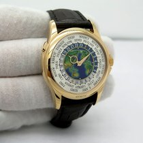 Patek Philippe World Time pre-owned 39.5mm White Leather