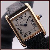 Cartier Tank Louis Cartier Желтое золото 23mm Белый Римские